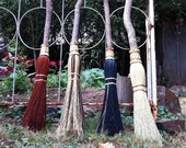 Wedding Besom or Handfasting Broom in your choice of Natural, Black, Rust or Mixed Broomcorn