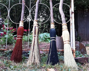 Rustic Wedding Besom in your choice of Natural, Black, Rust or Mixed Broomcorn