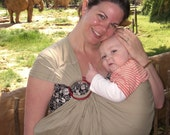 Ring Sling Baby Carrier - Khaki Sling -SALE PRICE - Choice of Ring Color
