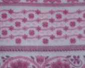 "stepfel... Custom Order for 2 yards Polar Fleece Pill Resistant Pink Cream Stripes w/ Hearts 60"" wide"