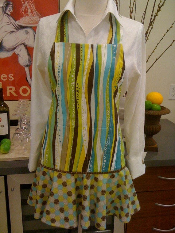 Halter Apron with Flirty Skirt