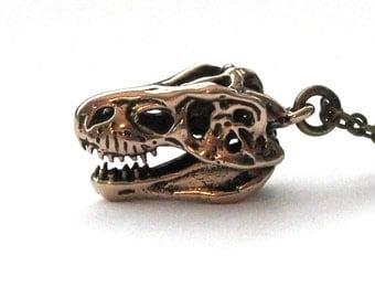 SALE - T-Rex Skull Necklace  080