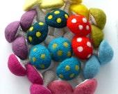Mushroom ornament Alice in Wonderland party decorations Weddings favor mushrooms home rainbow nursery decor waldorf toy Birthday party