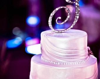 Custom Swarovski Crystal & Pearl Cake Topper