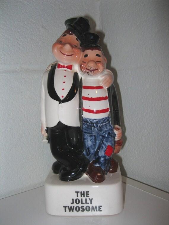 Vintage Jolly Twosome Figurine / Gift / For Him / Candle holder / Vase