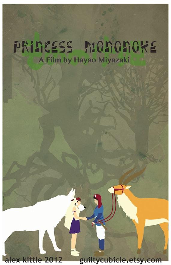 PRINCESS MONONOKE Original Movie Poster