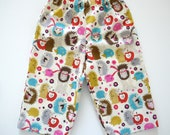 Hedgehogs - Girls Lounge Pants - size 6T - Ready to Ship