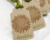 Thankful Tags Fall Mum - Set of 6 - Thanksgiving Tags Fall Favor Tags Thanksgiving Decor Autumn Tags
