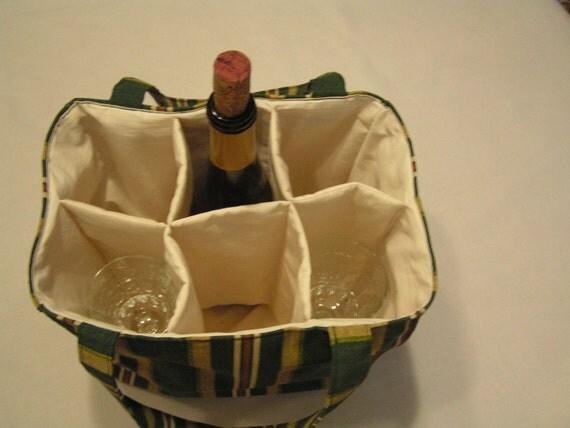 6 Pocket Wine Tote or All Purpose Bag