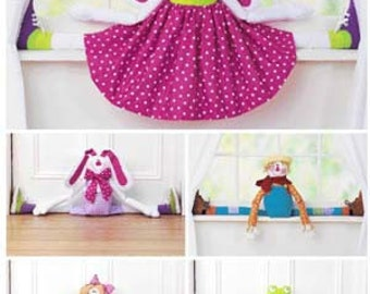 DRAFT STOPPER Sewing Pattern - Scarecrow Frog Bunny Angel Winter Cold Door Stoppers 3560