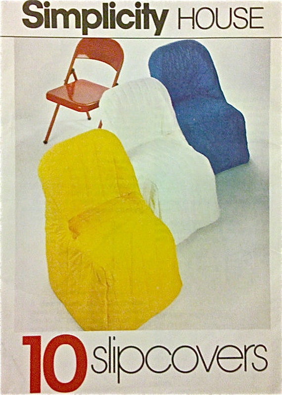 Vintage Chair Covers Sewing Pattern 10 Chairs Slipcovers