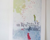 "11""x16""- Inspirational Petit prince St Exupéry quote - home decor-"