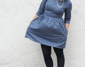 Long sleeve dress- Fall Fashion- vintage style fitted dress, custom sizing