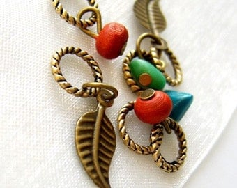 SALE 15% OFF - A Leaf In The Wind - Firefly Series - Six Handmade Stitch Markers - Fits Up To 5.0 mm (8 US) - Limited Edition