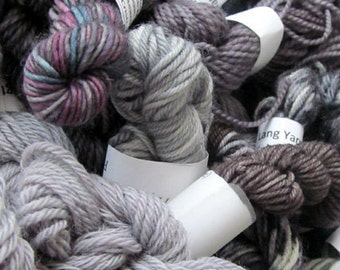 Grey Matter - Mini Skeins Fingering Sock Yarn Kit - Mini Mania (12)