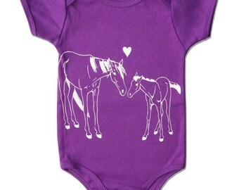 Organic Baby Clothes, Horse Baby Clothing, Organic Baby Clothing Organic Baby Clothes Baby Bodysuit One Piece Onesuit onsie