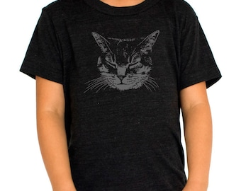 Cat Shirt, Kids Cat shirt Black Cat t-shirt Cat Lover Meow Kitty Cat Clothing Cat tee Children's Cat Shirts Kitty Shirt Toddler Kitten Shirt