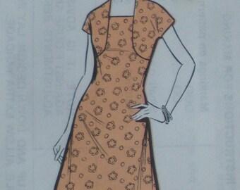 Vintage Sewing Pattern 70s 1970s Womens Dress and Bolero Suit - Sunday People Pattern No. 562 UK - US Size 10 - UK Size 12 - factory folded