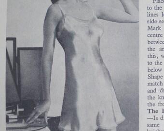 Vintage Sewing Book 1940s - Practical Home Dressmaking Illustrated  1948 edn - vintage needlework book 40s lingerie underwear etc WW2 style