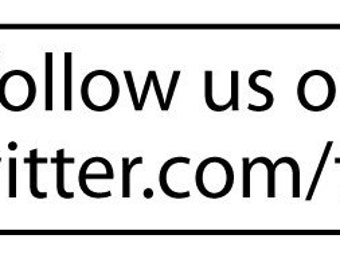 Follow us on Twitter  with your page name - Traditional wooden handle rubber stamp