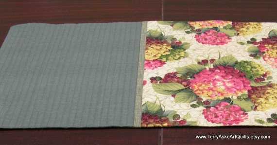 Quilted Table Runner - Celebrate Spring with Tranquil Garden