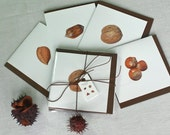 Christmas Cards 'Mixed Nuts', Pack of Eight