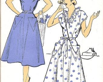 1950s Sewing Pattern 1950s Dress Pattern - I Love Lucy Dress - Rockablilly Dress - Classic 50s Dress - New York 1301 - Uncut