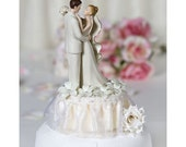 Off White Stephanotis Cake Topper - Custom Painted Hair Color Available -104440