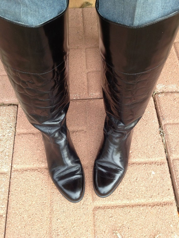 SALE Vintage Riding Boots Charles David Equestrian small heel size 6.5 M-W
