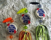 Mens Gift for Him Valentines Gift for Man Bottle Cap Pabst Fishing Lure 3 Pk for your Valentine Gift Idea for Valentines Day Gift for Dad