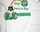 My First St. Patricks Day bodysuit with bow