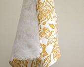 everyday yellow ochre hand block printed home decor passionflower white linen dinner napkins set of 8