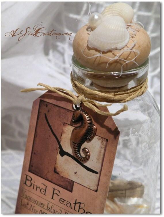 Feather In A Bottle - Wedding Favor Or Souvenir