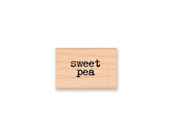 sweet pea  -  wood mounted rubber stamp