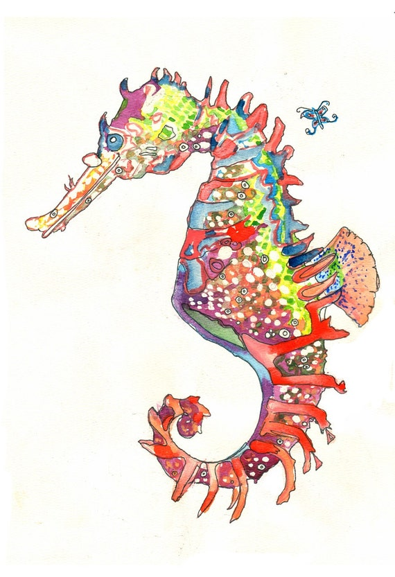 Seahorse Limited Edition Beach Fine Art Print From Original