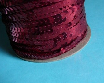 7 yds. Red Sequin Yardage for Lyrical Dance, Costume or Jewelry Design, Headbands, Decorative Crafts
