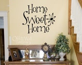 Home Sweet Home - vinyl sign - entryway decal