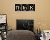 Think periodic table vinyl decal - Periodic Table decal - elements vinyl decal - Chemistry science decal - funny