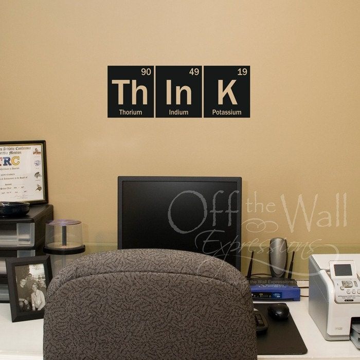 Think Wall Decal Periodic Table Decal Elements Vinyl Decal. Traditional Decorating. Santa Cruz Rooms For Rent. Hooker Dining Room Table. Decorative Copper Sheets. Dragonfly Home Decor. Black And White Party Decoration Ideas. Country Chic Wall Decor. Country Home Decor