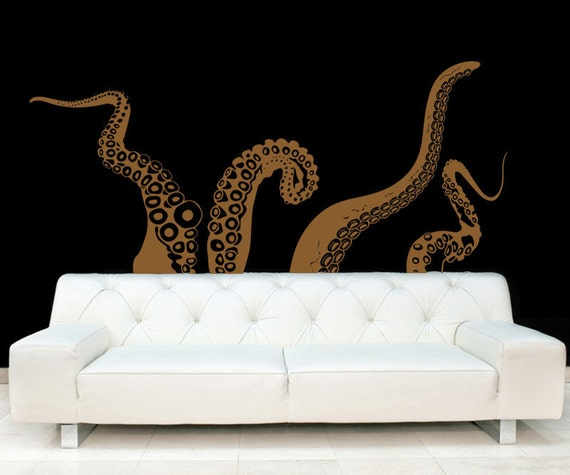 Large Kraken/Octopus Tentacles Vinyl Wall Decal-Choose Any Color