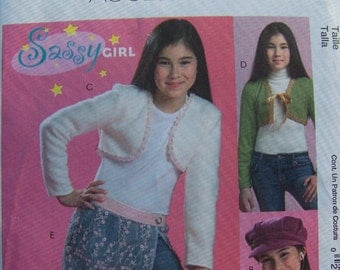 McCall's M5197 Sewing Pattern SALE- Girl's Fashion Accessories -  Hat, Bolero, Shimmy Cell Phone or Tech Gadget Case, Scarf, Size 7 - 16