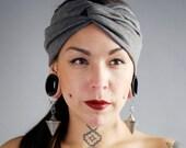Charcoal Rayon Turban Twist HeadBand