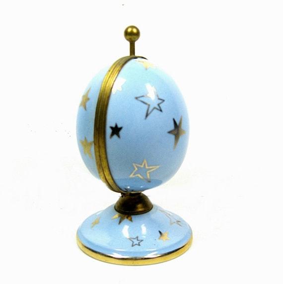 Porcelain Perfume Egg Limoges Goumot Labesse 1960s Vintage