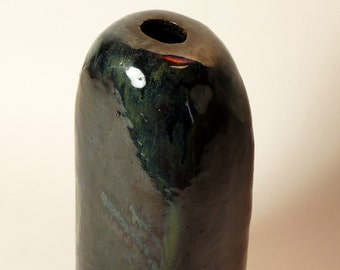 Peder Rasmussen Danish Studio Pottery Vase signed 1959