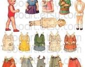Super Combo VINTAGE Paper DOll  Digital sheet - jpeg file Collage sheet