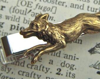 Fox Tie Clip Men's Tie Clip Gothic Victorian Fox Vintage Style Brass Fox Men's Gifts Accessories Father's Day Gifts Men's Steampunk Tie Clip