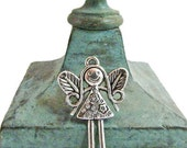 Silver Fairy Girl Charm Silver Charm 10 Charms Jewelry Supply Necklace Bracelet Charm #187