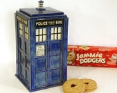 TARDIS Lidded Jar - Made to Order - Handmade Ceramic Container