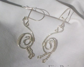 Sterling Silver Swans Earrings