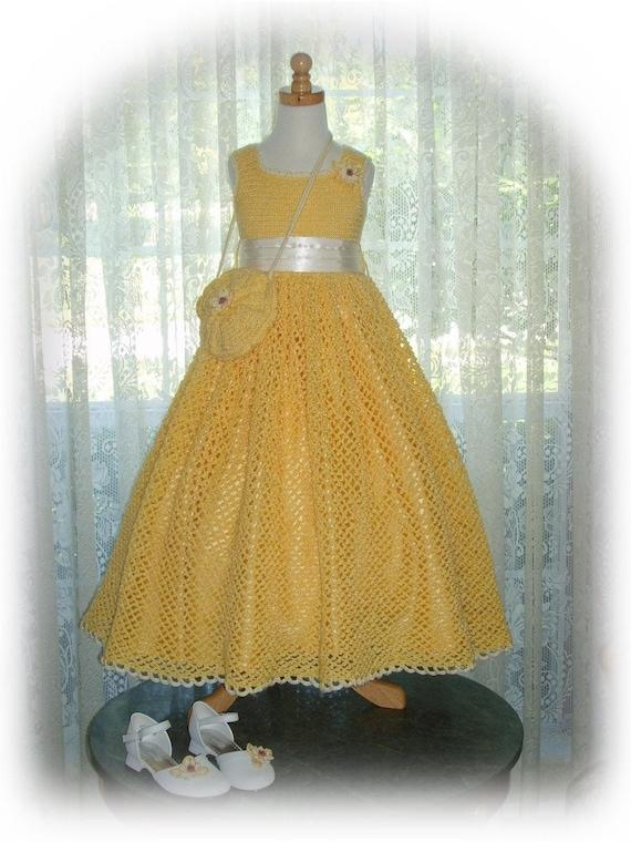 Summer - Debbie's Sunshine Daisies crochet dress PDF e Pattern (girl size 8 / 9)